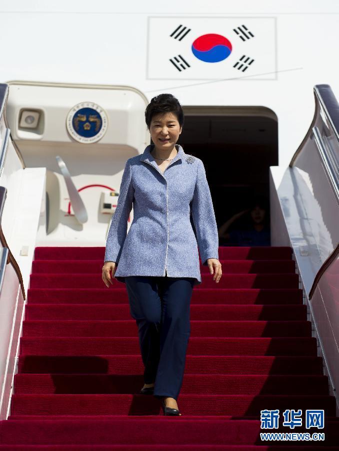 (XHDW)(1)韓國總統樸槿惠抵達北京
