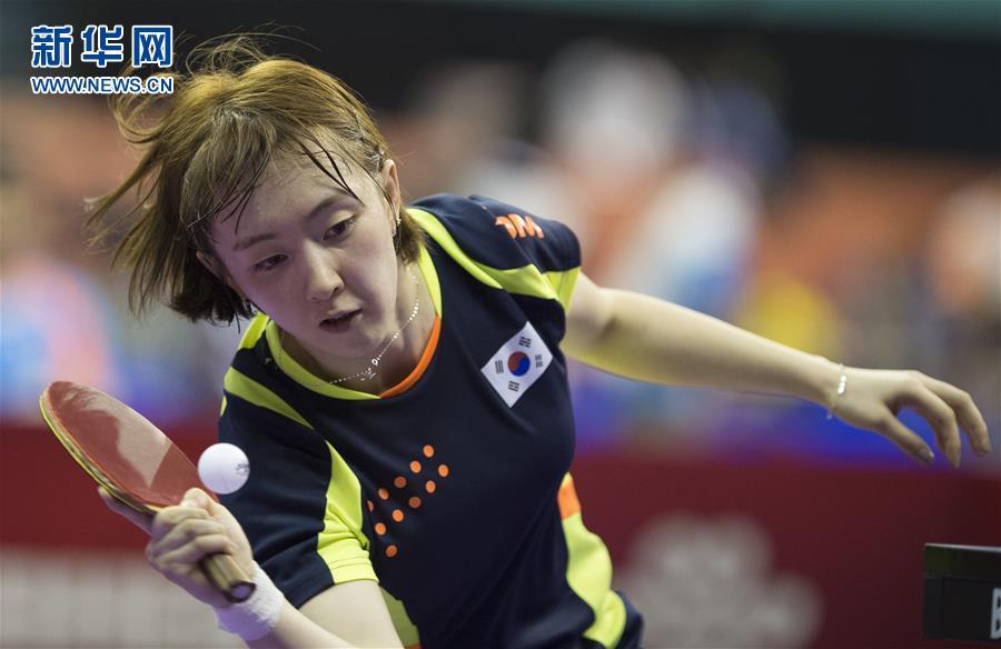 乒乓球--世锦赛团体赛:韩国女队胜瑞典保龄球打弧线球速度慢图片