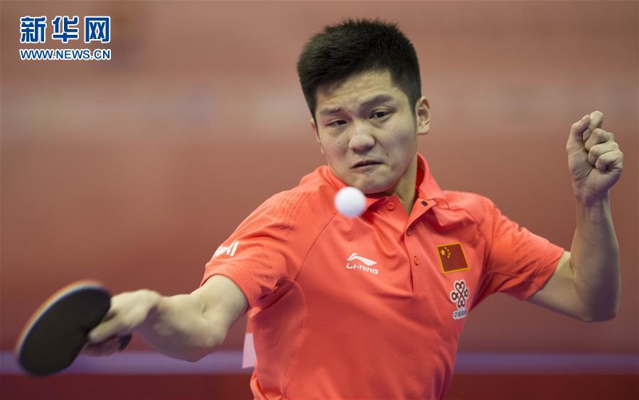 乒乓球--世锦赛团体赛:中国男队胜朝鲜西班豪门球队图片