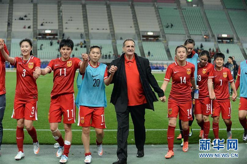 (體育)(1)足球——女足奧預賽:中國勝韓國