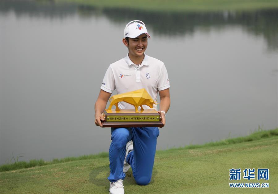 (體育)(2)高爾夫——深圳國際賽:韓國選手李首民奪冠