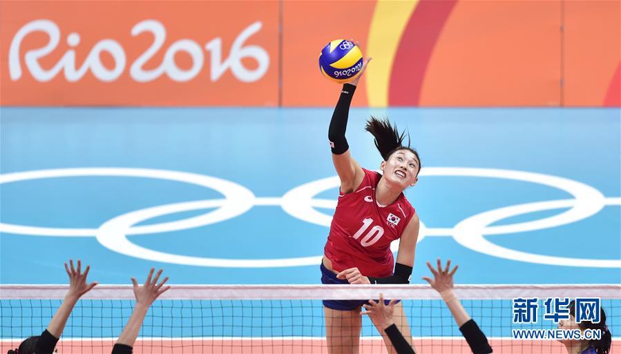 (裏約奧運會)(1)排球——女排小組賽:韓國勝日本