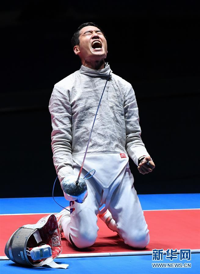 (裏約奧運會)(1)擊劍——男子佩劍個人賽:韓國選手金政煥獲得銅牌