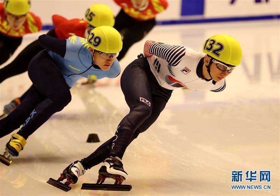 (亞冬會)(1)短道速滑——男子1500米:韓國選手樸世暎奪冠