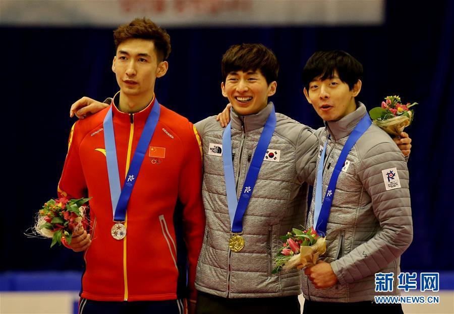 (亞冬會)(3)短道速滑——男子1500米:韓國選手樸世暎奪冠