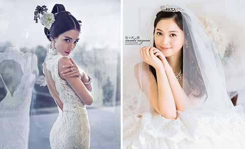 中日韓女星美艷婚紗秀