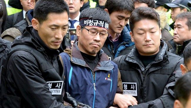 韓國警察圍住寺廟 逮捕首爾示威主謀韓相均