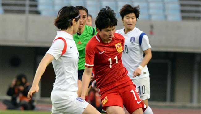 中國女足戰勝韓國出線