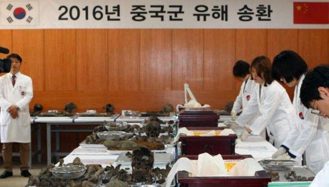 實拍 在韓中國志願軍烈士遺骸入殮