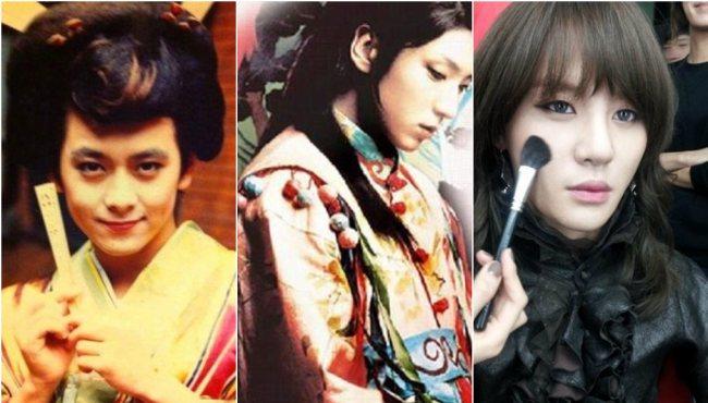 中韓男星女裝扮相PK
