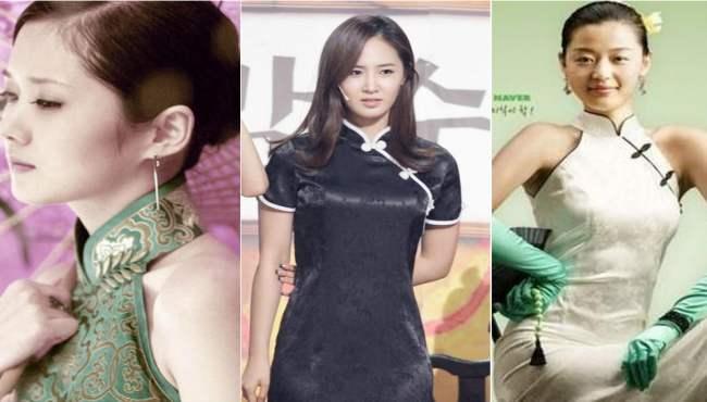 韓國女明星旗袍裝PK