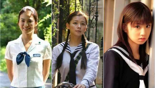 看中日韓女星學生裝PK