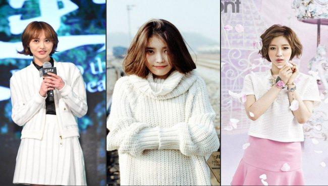 中韓女星驚艷短發造型