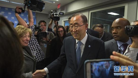 潘基文对韩国政局表示担忧(组图)