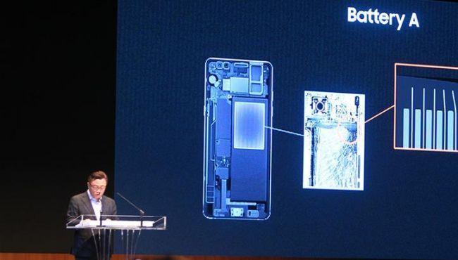 三星稱Note7手機燃損原因在電池(組圖)