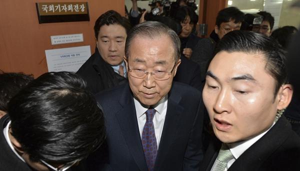 潘基文宣布將不會參加下屆韓國總統選舉