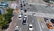 """韩国:无人驾驶巴士路演""""首秀"""""""