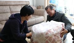 韓總統文在寅拜訪浦項地震災民(圖)