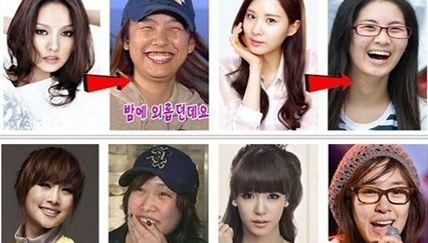韓國女星素顏不忍直視