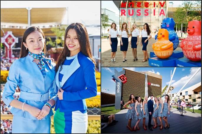 밀라노엑스포, 각 국가관 유니폼 패션 대결