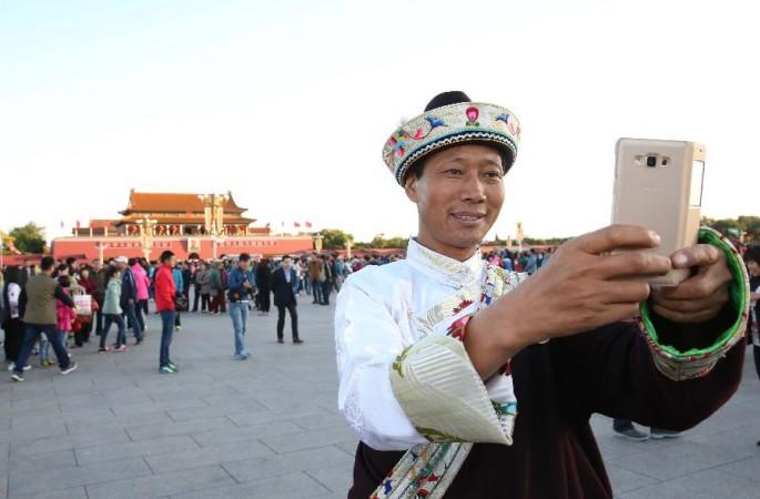기층민족단결 우수대표, 톈안먼광장서 국경절 경축