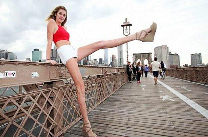 미국에서 다리가 가장 긴 미녀...다리 길이 1.25미터!