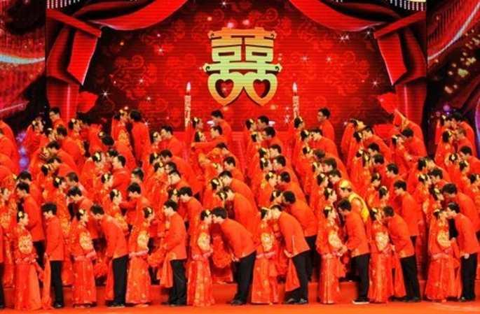 中 푸저우, 단체 결혼식 현장 속으로