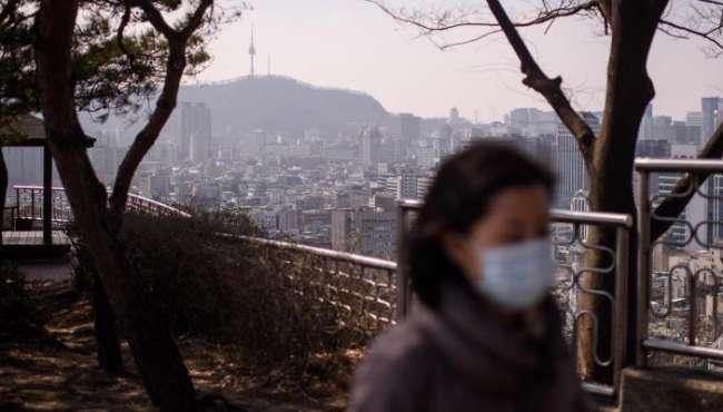 韓國首爾遭霧霾侵襲