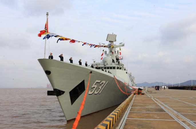 신세대 미사일 호위함 샹탄(湘潭)함, 중국 해군 취역