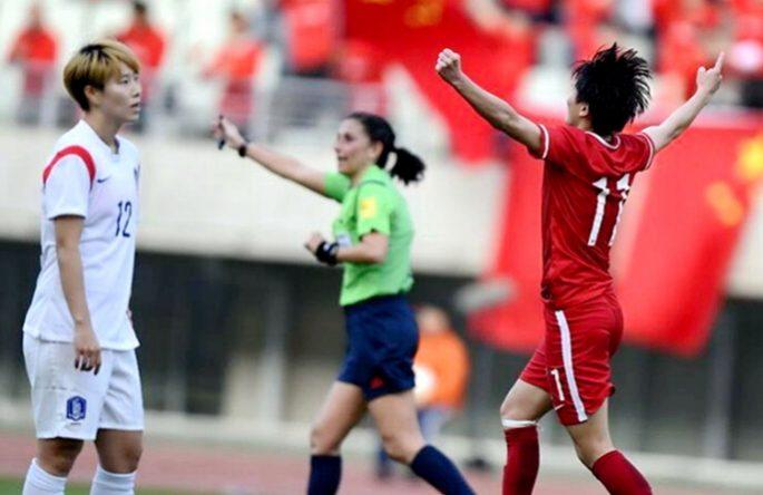 中여자 축구 韓에 1:0으로 勝, 리우는 우리가 간다!
