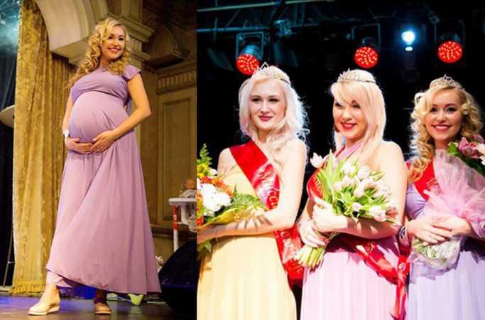 俄임신 엄마 미인선발대회, 24세의 예비엄마 우승
