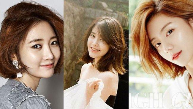 韩国女星示范最火发型