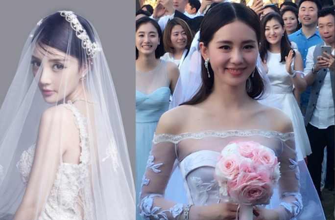 """치웨이(戚薇) """"아시두랍랍(我是杜拉拉)"""" 블랙 웨딩드레스 패션...中여배우들의 가장 아름다운 웨딩사진"""