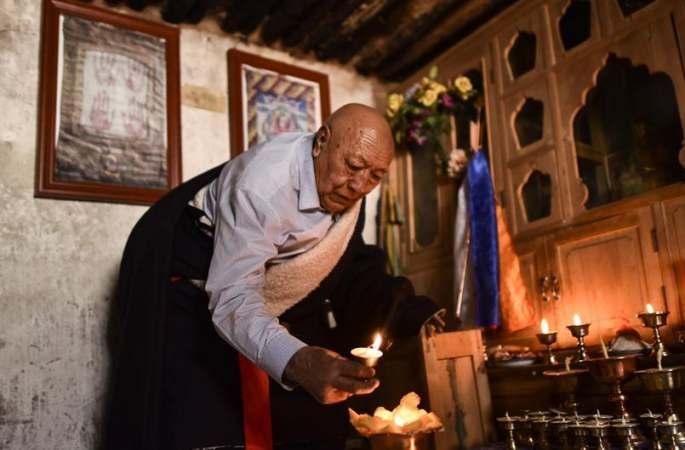 中칭하이 퉁톈하 옛나루터의 최후 도하인 니마체링
