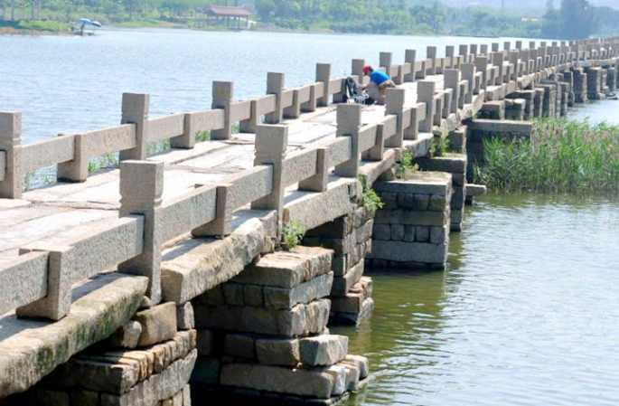 현존하는 가장 긴 중국 고대 다리, 푸젠 진장의 안핑차오