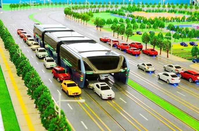 중국의 '최강 버스' 공개! 교통체증 35% 줄일 것