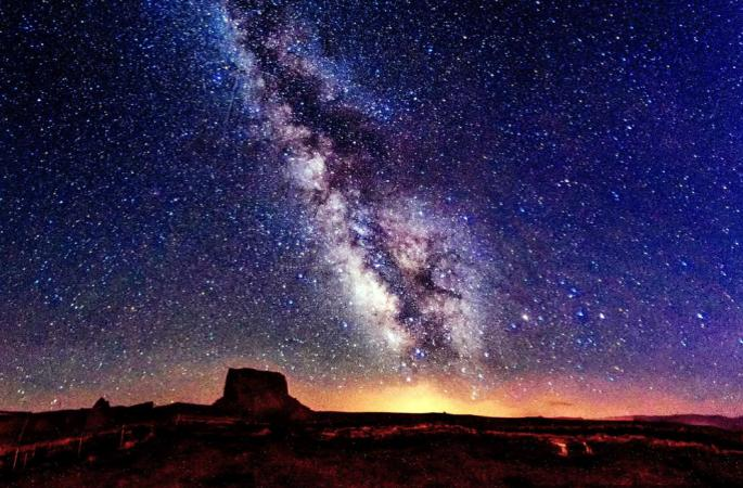미국 각지의 절미한 은하 야경