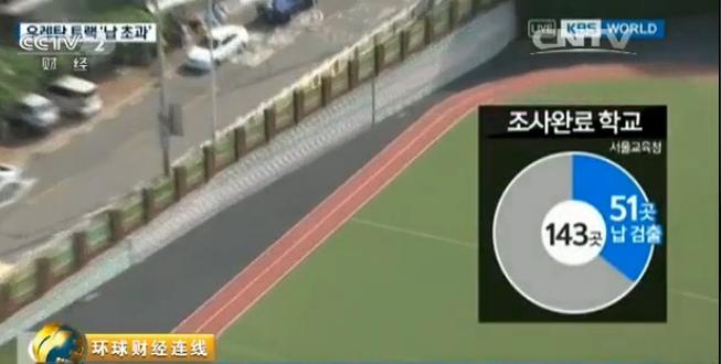 【視頻】韓國多所學校驚現有毒跑道