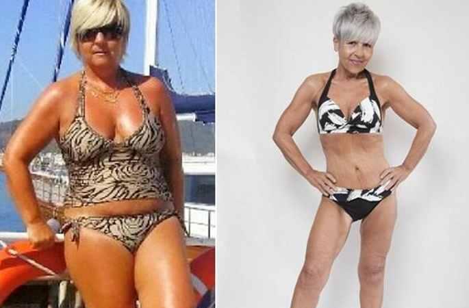 뚱뚱했던 55세 할머니, 지금은 비키니 모델?