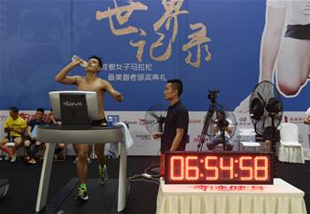 진정한 '런닝맨', 中남성 런닝머신 12시간동안 연속 달리기