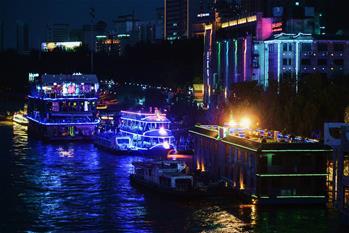란저우 황허크루즈 하계 야간 항행 시작