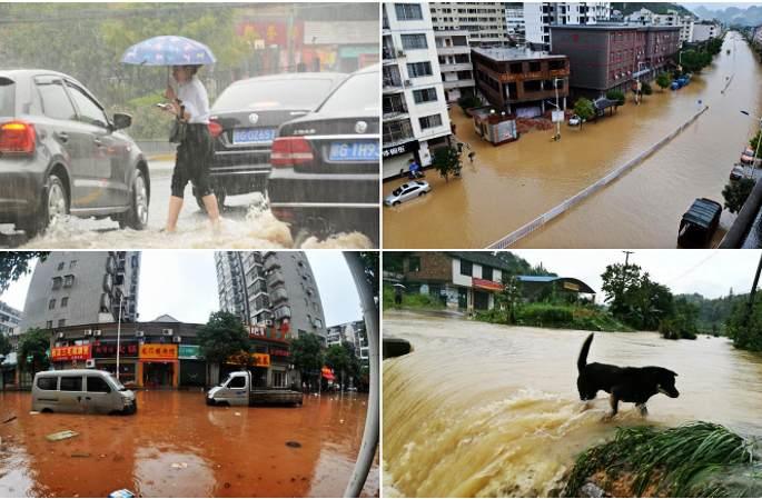 中 남방 각지 폭우 습격