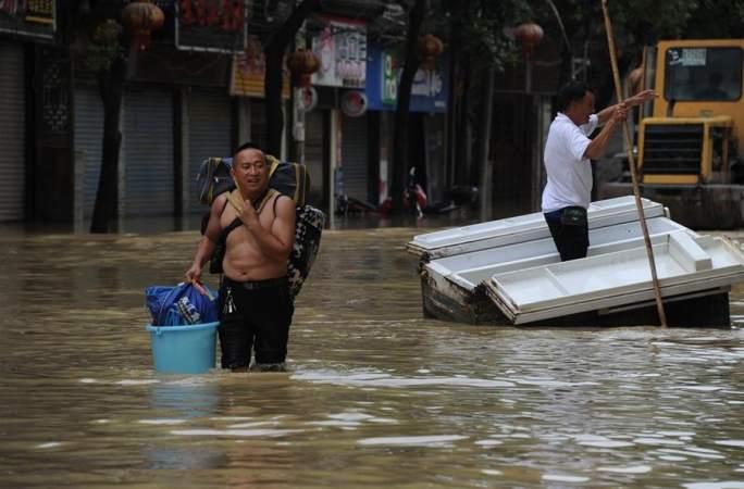 후난 상시, 폭우로 3000여명 이재민 전이