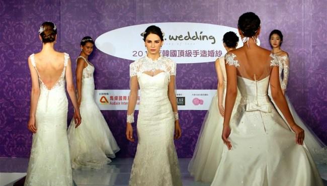 韓頂級手造婚紗亮相婚博會