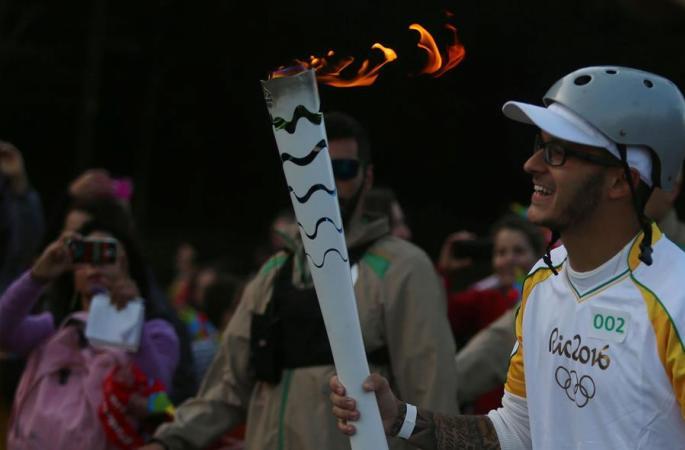 올림픽 성화 상파울루서 봉송