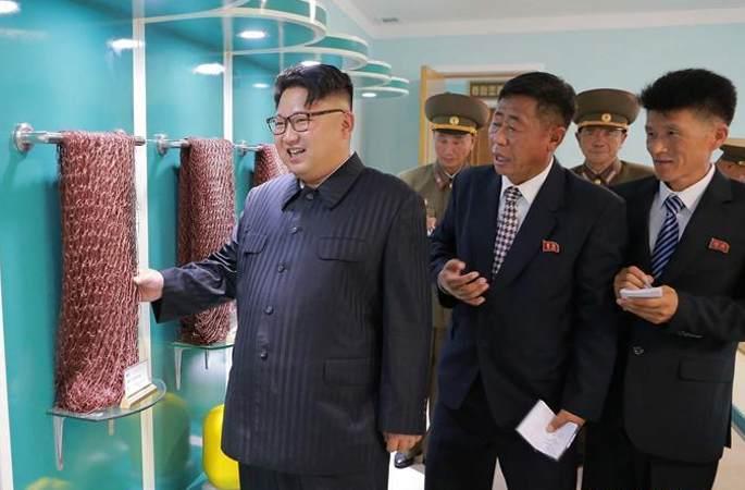 김정은, 신설 조선인민군 어구종합공장 시찰