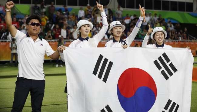 韓國隊女子射箭團體賽奪金 5比1戰勝俄羅斯