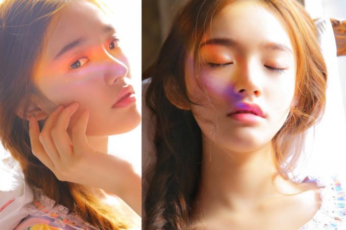 린윤, 레인보우 메이크업으로 소녀의 청춘매력 발산