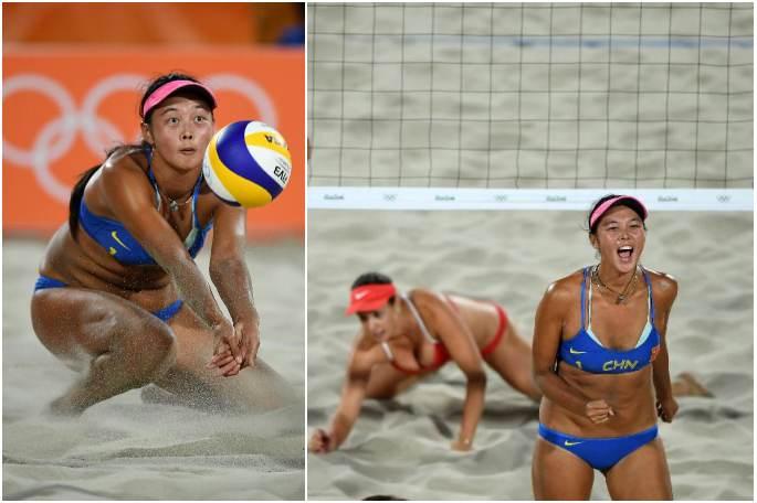 [리우 올림픽] 비치발리볼 여자 예선전서 중국 스위스를 이기다