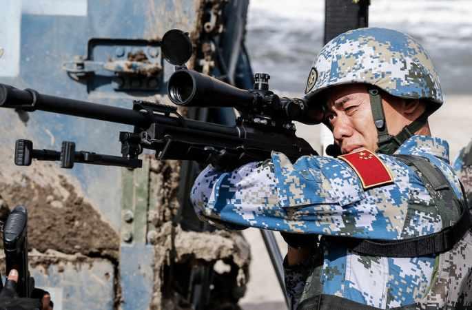 중국 병사의 '해상 돌격' 국제 군비경쟁 실황